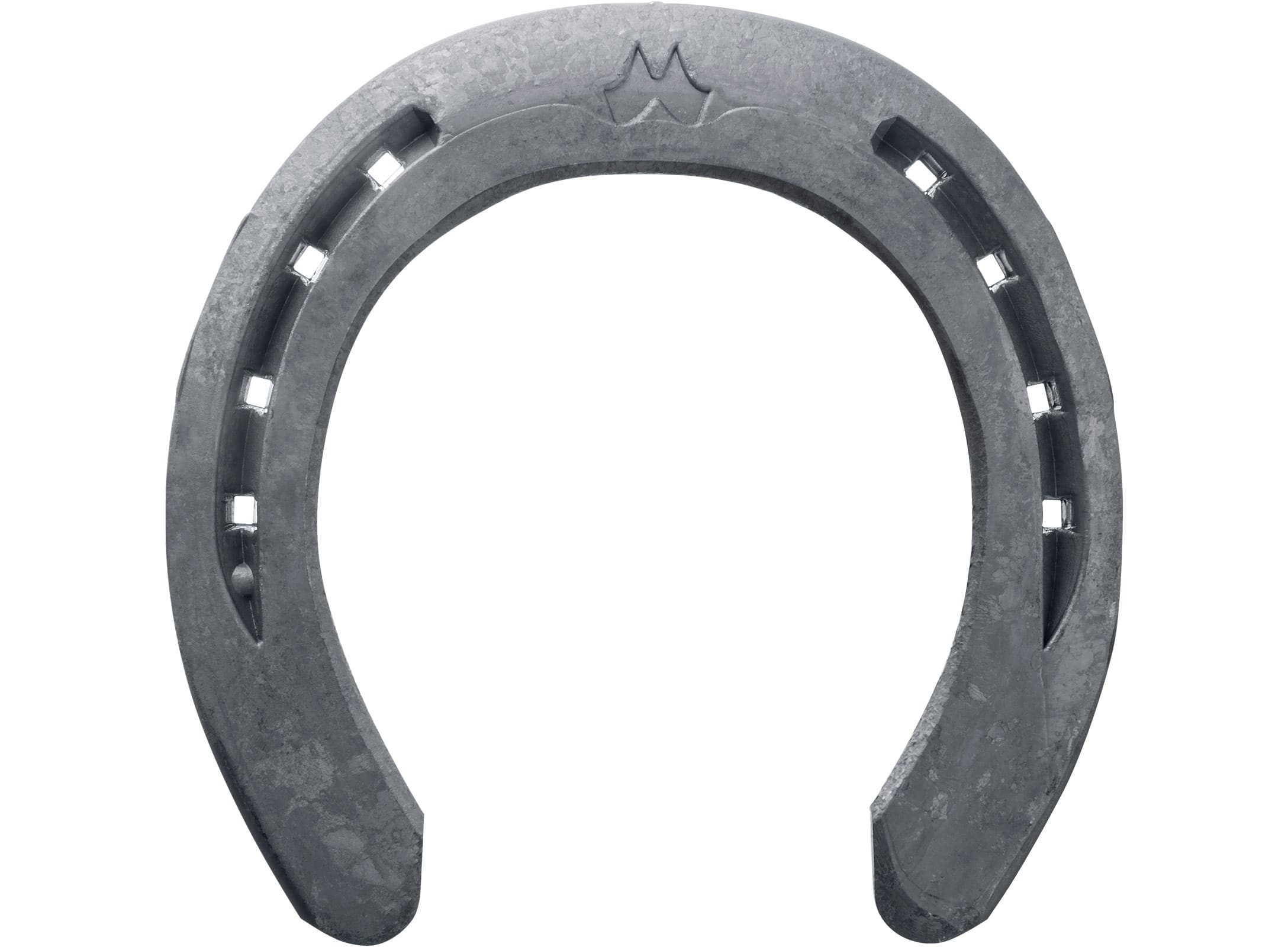 Mustad LiBero Equi-Librium horseshoe, front, bottom view