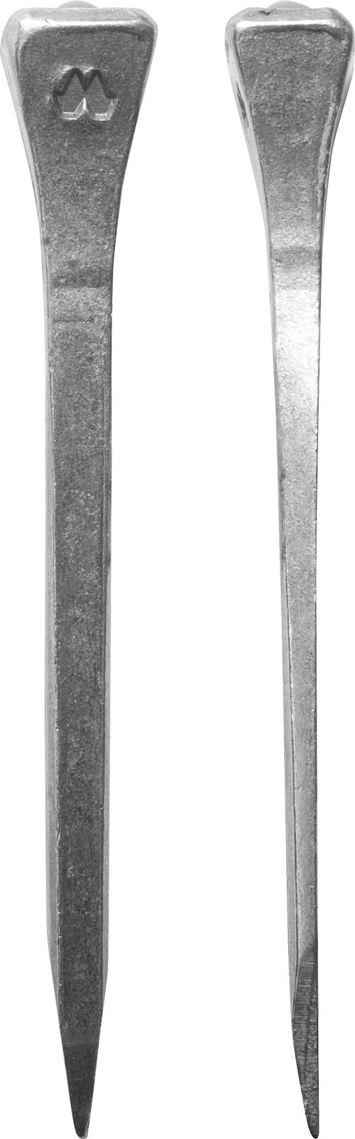 Mustad Road Nail E, front and side views
