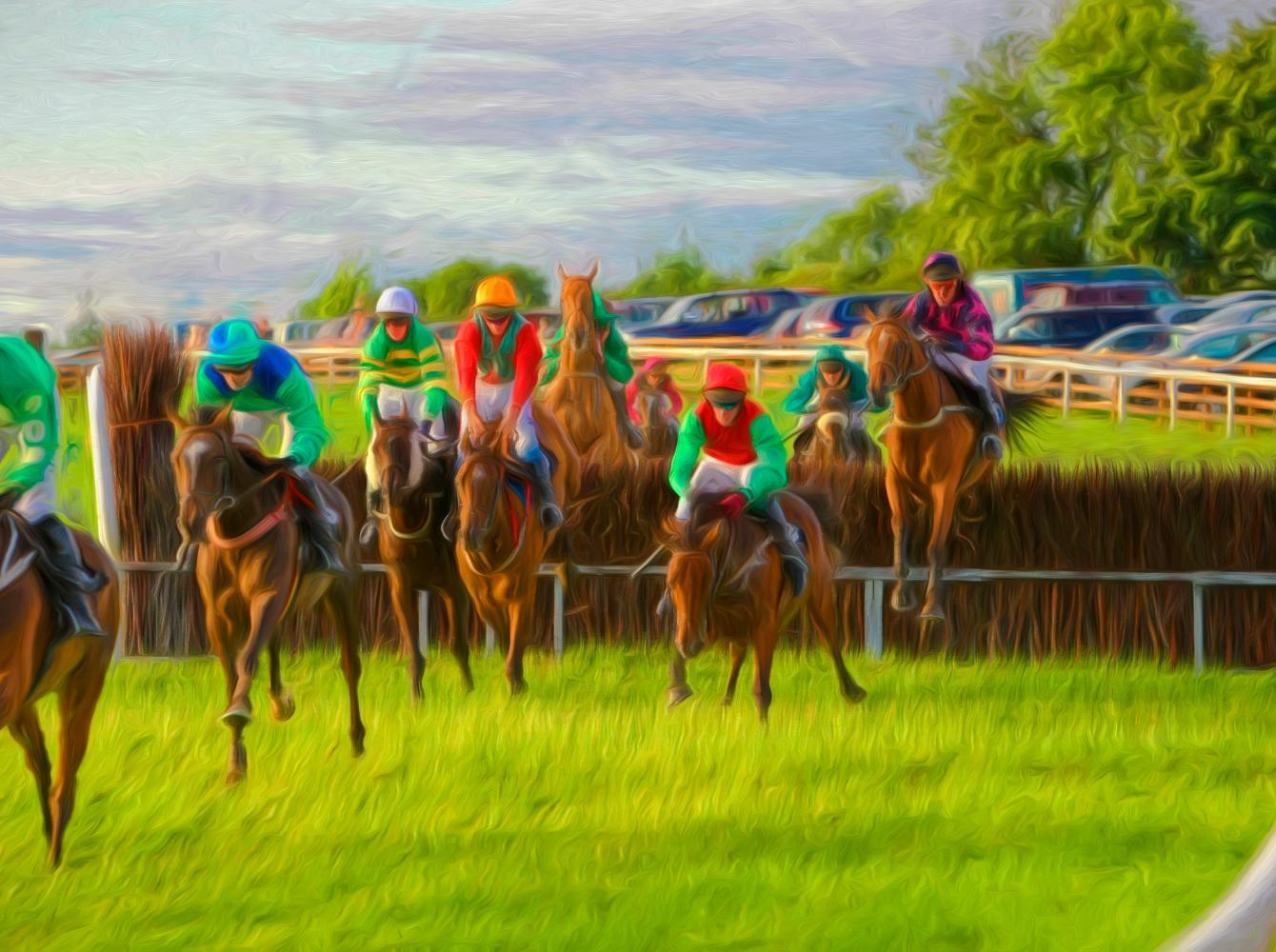 A painting of a Point-to-point race