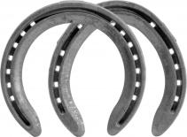 St. Croix Forge Concorde Steel horseshoes, front and hind, bottom view